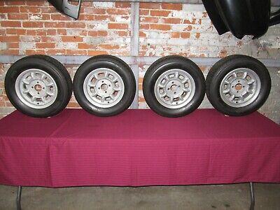 Original Minilite Wheels 13 x 6 Date Stamped 5-75 (1975) BMW 2002