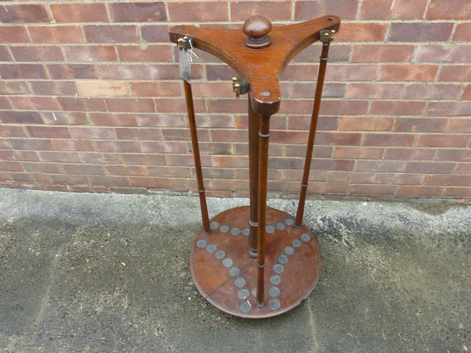 antique snooker cue rack