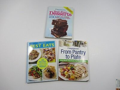 Weight Watchers Lot Of 3 Cookbooks Best Desserts Best Eats From Pantry To Plate