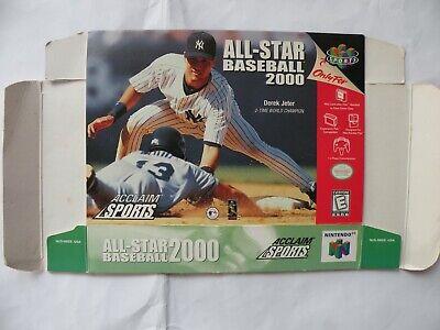 N64 Nintendo MLB All Star Baseball Derek Jeter 64 2000 Cover Box Only