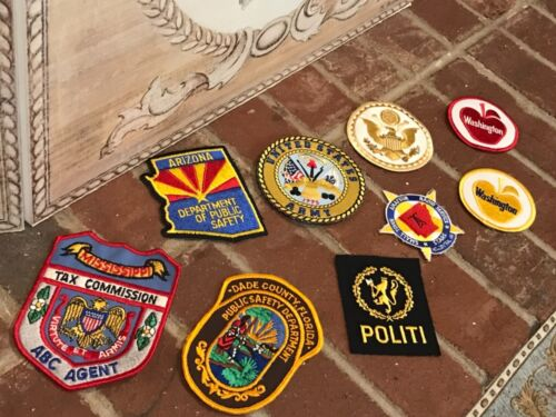 Patches Assortment of 9 Various Depts. and Types