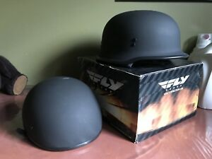 German style and low profile half helmets