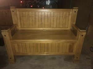 Storage bench and chests