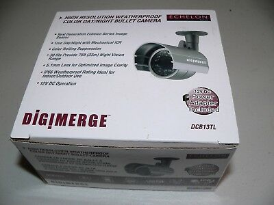 New Digimere DCB13TL Echelon High Res Weatherproof Color Day/Night Bullet Camera