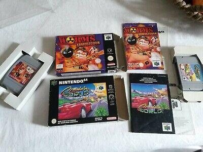 Jeux NINTENDO 64 Cruis'n World Worms Armageddon N64 notice et boite FAH
