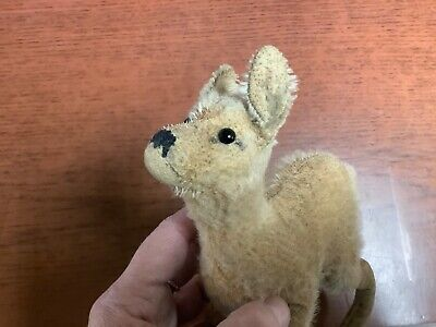 "Early Timeworn Steiff Fawn Deer Vintage German Stuffed Toy Mohair 6"" No ID"