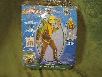 Skylanders Stink Bomb Child Costume Mask Tail Shirt Pants Outfit New Small 4-6 (Skylander Outfits)