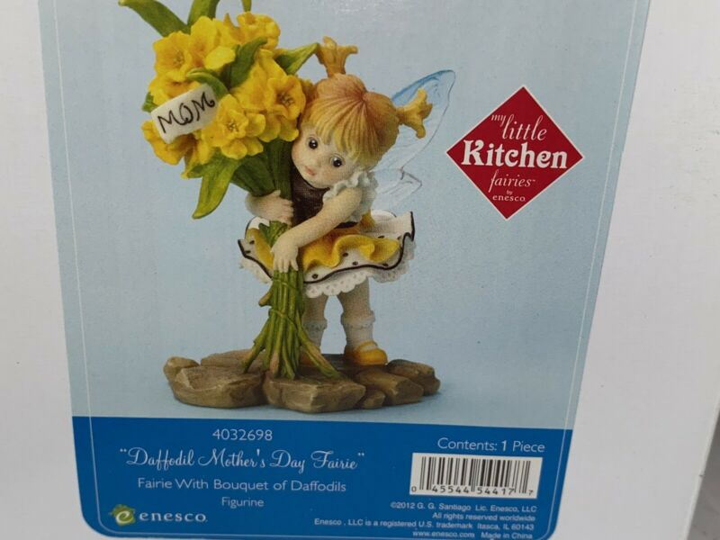 "My Little Kitchen Fairies ""Daffodil Mothers Day FAIRIE"" 2012  NIB"