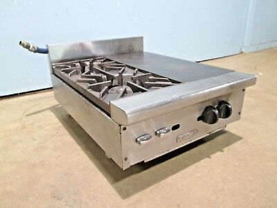 Vulcan Hart Hd Commercial Natural Gas Counter-top 2 Burners Stove Wfrench Top
