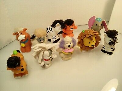Fisher Price Little People Touch and Feel Animals LOT of 10 M #1A