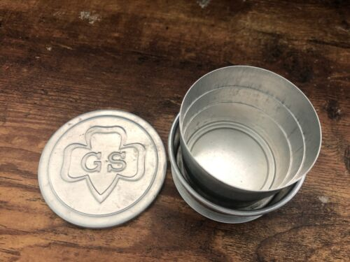 Vintage GIRL SCOUTS Collapsible Aluminum Cup