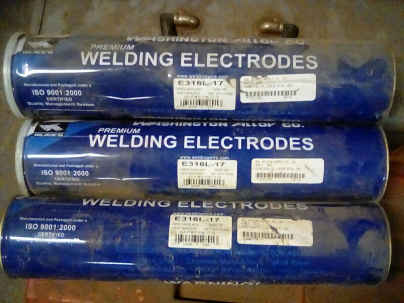 """E316L-17 1/8"""" X 14"""" Stainless Steel Electrode 30lb"""