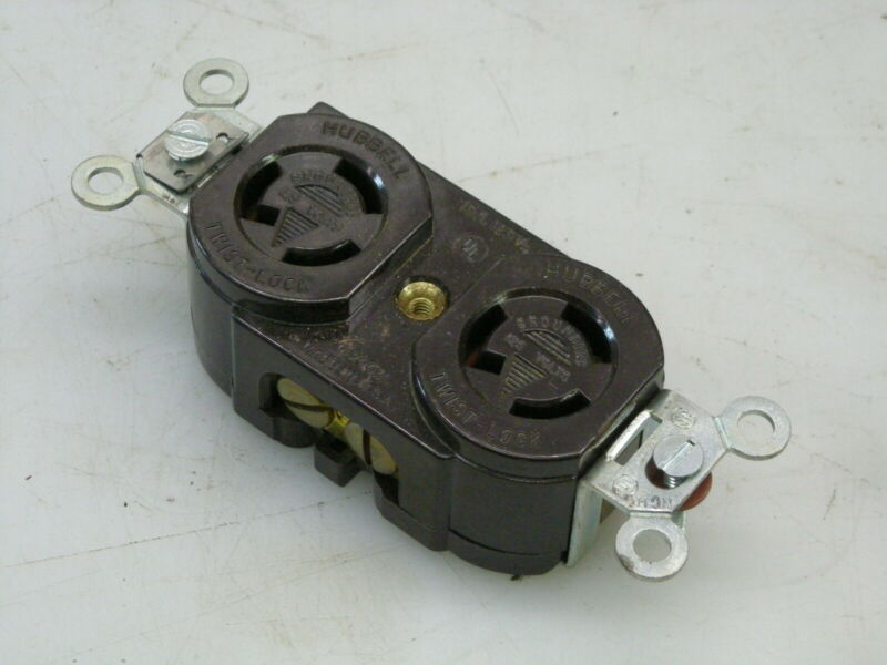 NEW - HUBBELL P-2003 125 V 15A DUPLEX TWIST LOCK RECEPTACLE