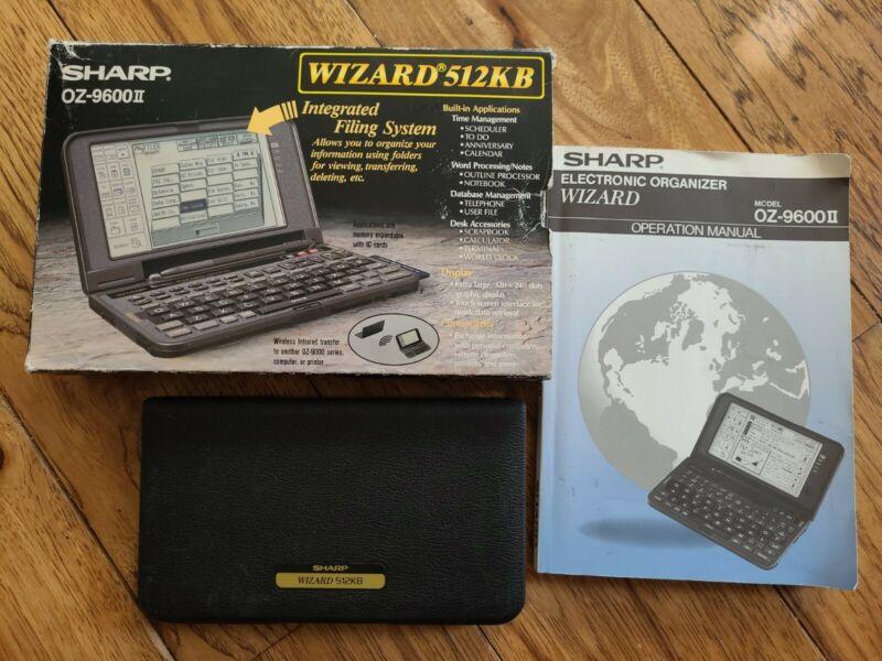 Vintage Sharp Wizard 512kb OZ-9600ii In Box Working