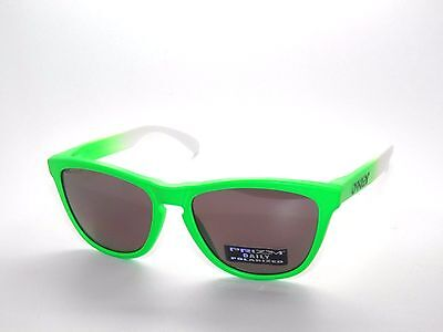 sale OAKLEY SUNGLASSES FROGSKINS 9013-99 GREEN FADE/PRIZM D (Frogskins Sale)