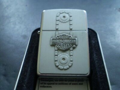 "ZIPPO/ A MEGA RARE VINTAGE HARLEY DAVIDSON "" CHAIN DRIVE "" FROM 03 NEW IN TIN"