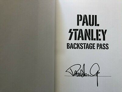 Paul Stanley autographed signed autograph KISS Backstage Pass hardcover book COA