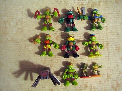 10 COLLECTABLE 9 TEENAGE MUTANT NINJA TURTLE 1 MINE CRAFT ACTION FIGURES  LOT - Ninja Turtle Crafts