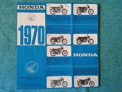 HONDA, Genuine Sales Brochure, 1970 Range, Dutch text, CB 125/250/450/750 etc.