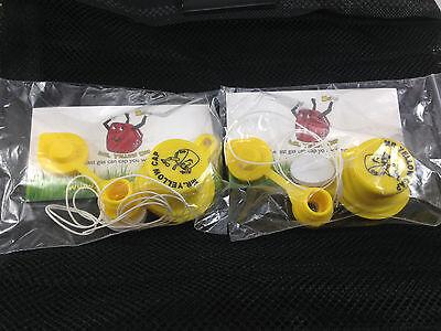 per Pack 1 BLITZ Yellow Spout Cap /& 1 Vent Cap 40 pcs total Packs 10X
