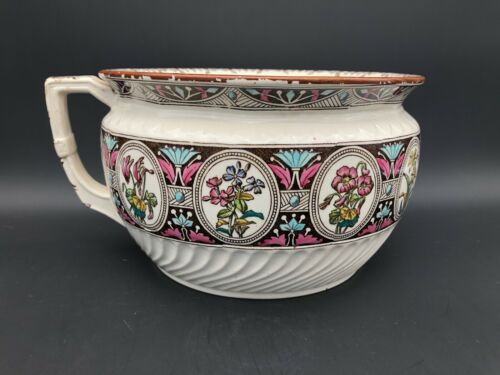 "Antique 9"" Chamber Pot, F Primavesi & Sons, Beautiful Colors"