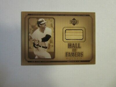 2001 Upper Deck Hall of Famers #B-RJ Reggie Jackson - Game-Used Bat