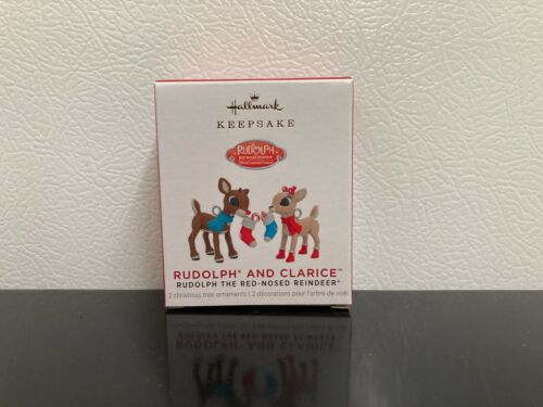 *Rudolph and Clarice* ~ 2021 Hallmark Mini Ornament ~Rudolph~ Super Cute! ~ NIB~
