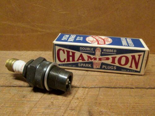 NOS CHAMPION 3X SPARK PLUG w/ Instructions & Thread Guard, FORD MODEL A & B