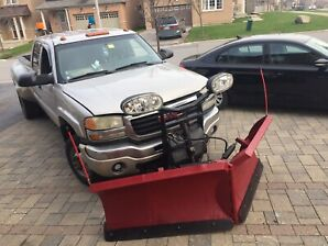 GMC SIERRA 3500 DUALLY WITH BOSS V SNOW PLOW & SALTER $15,00obo