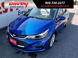 2018 Chevrolet Cruze Premier Auto HEATED LEATHER SEATS,  BACK...