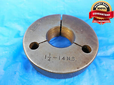 1 14 14 Ns Thread Ring Gage 1.25 Go Only Quality Inspection 1.250-14 Gauge