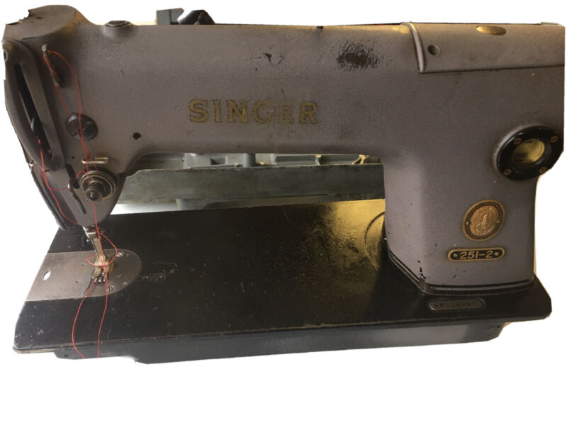 Singer Straight Stitch Sewing Machine Model # 251-2 Head and oil pan only