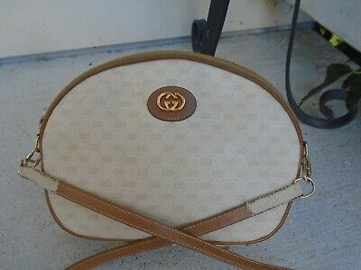 Vintage Gucci monogram signature small crossbody bag