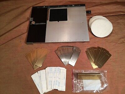 Kingsley Hot Foil Machine 8 X10 Extension Base-plate 31 Cawley Plates Proofs