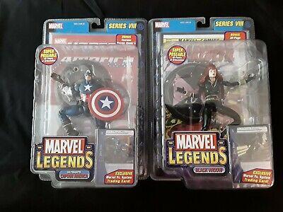 Marvel Legends ToyBiz Ultimate CAPTAIN AMERICA & BLACK WIDOW Series VIII 8 NIB