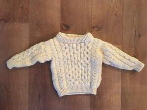 Baby wool Aran sweater