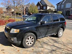 2010 Mazda Tribute V6 AWD, Black, Low KMs, 6 month Warranty