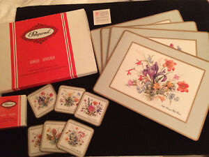 Pimpernel North American Wildflowers 4 Placemats/6 Coasters