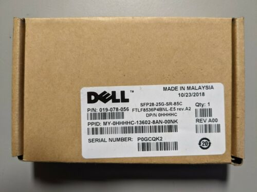 DELL SFP28 25GBE 850NM ETHERNET TRANSCEIVER MODULE P7D7R HHHHC
