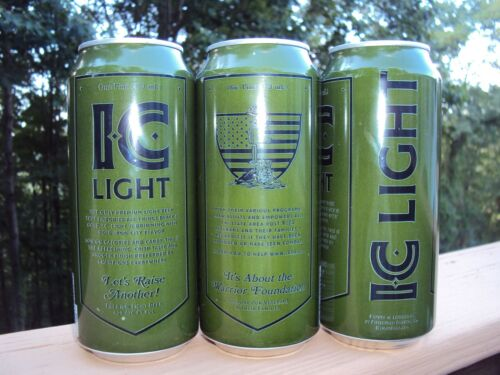 PITTSBURGH BREWING / I.C. LIGHT WARRIOR FOUNDATION  / CAMO can / IRON CITY BEER