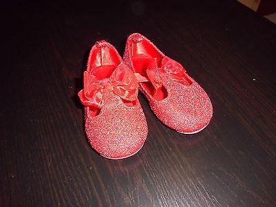 Schicke rote Glitzer - Schuhe für kleine Ladies, Größe 22 ()