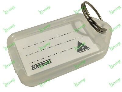 Kevron Pack 10 ID5 CLEAR 100% Genuine Plastic Clicktag Label Key Tags Click Tag