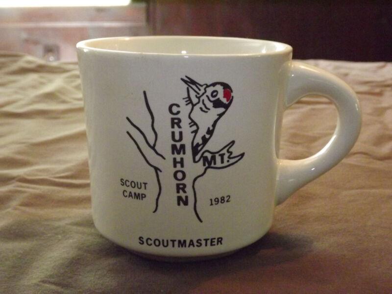 VINTAGE BSA BOY SCOUTS  COFFEE MUG 1982 CRUMHORN SCOUTMASTER