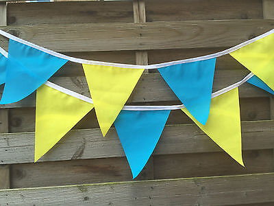 TOUR DE YORKSHIRE FABRIC BUNTING.EX LARGE FLAGS.10 INCHES.BIGGEST ON EBAY.