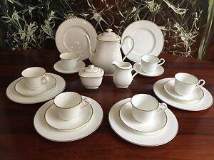 heinrich villeroy boch bone china royal gold 21 teiliges kaffeeservice ebay. Black Bedroom Furniture Sets. Home Design Ideas