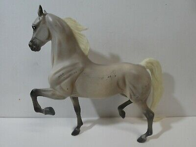 Breyer Horse Traditional Gray National Show Horse White Mane Tail