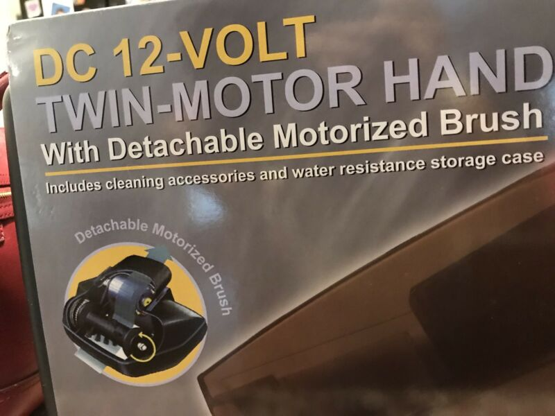 DC 12V Twin-Motor Vac w/detachable Motorized Brush And Case