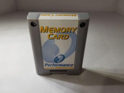 NEW GRAY PERFORMANCE 256K MEMORY CARD CONTROLLER PAK PACK for NINTENDO 64 N64