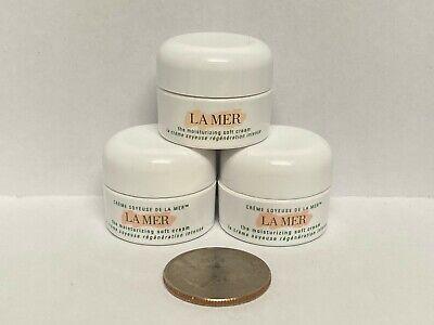 3 X La Mer Moisturizing Soft Cream TRAVEL SIZE .12 oz/3.5 ml FRESH NEW