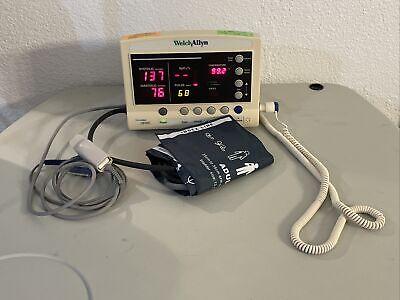 Welch Allyn 52000 Series Vital Signs Monitor Nibp Spo2 Temperature 5200